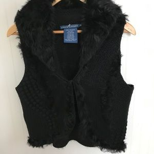 RALPH LAUREN SHEARLING VEST BLUE LABEL MEDIUM
